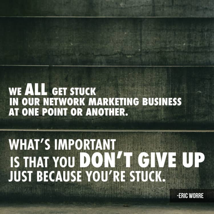 We All Get Stuck in Network Marketing