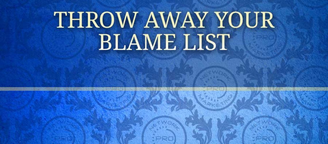 Throw Away Your Blame List