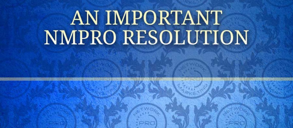 An Important NMPro Resolution