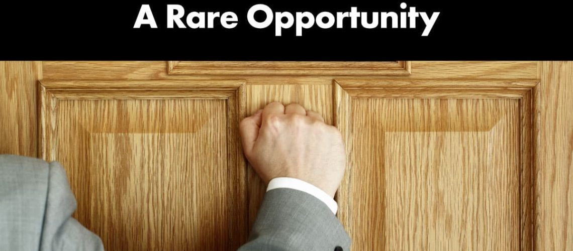 a-rare-opportunity